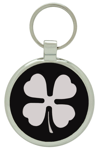 Teal Clover Pet Tag