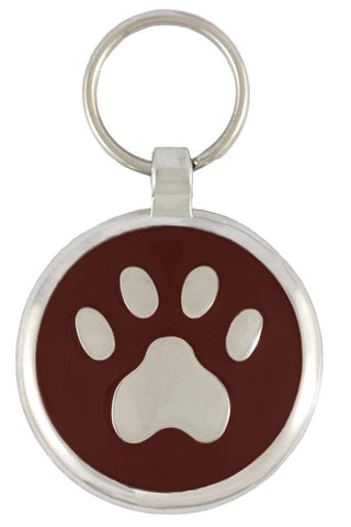 Black Pawprint Pet Tag