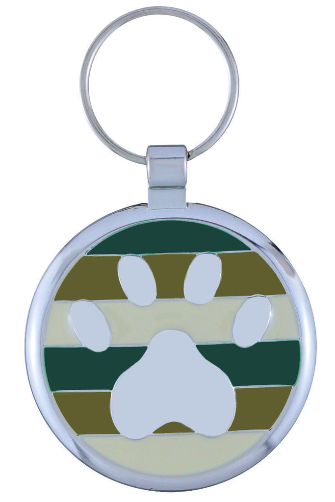 Camo Pawprint Pet Tag - Pawprint Pet Tags