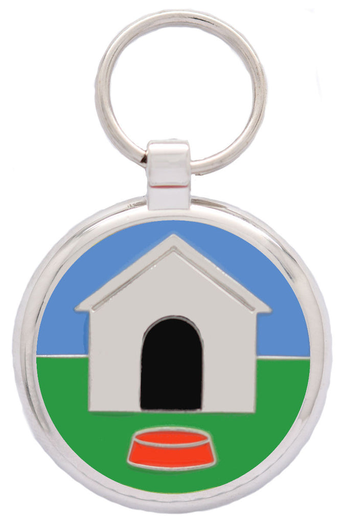 Dog House Pet Tag - Pawprint Pet Tags
