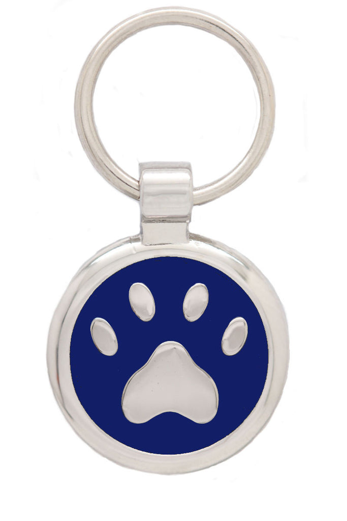 Blue Puppy Collar & Extra Small Pawprint Pet Tag