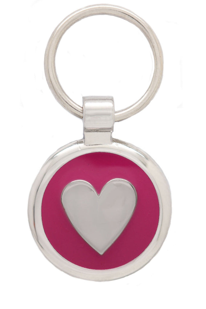 Fluro Pink Cat Collar & Extra Small Heart Pet Tag