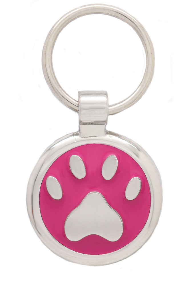 Yellow Puppy Collar & Extra Small Pawprint Pet Tag