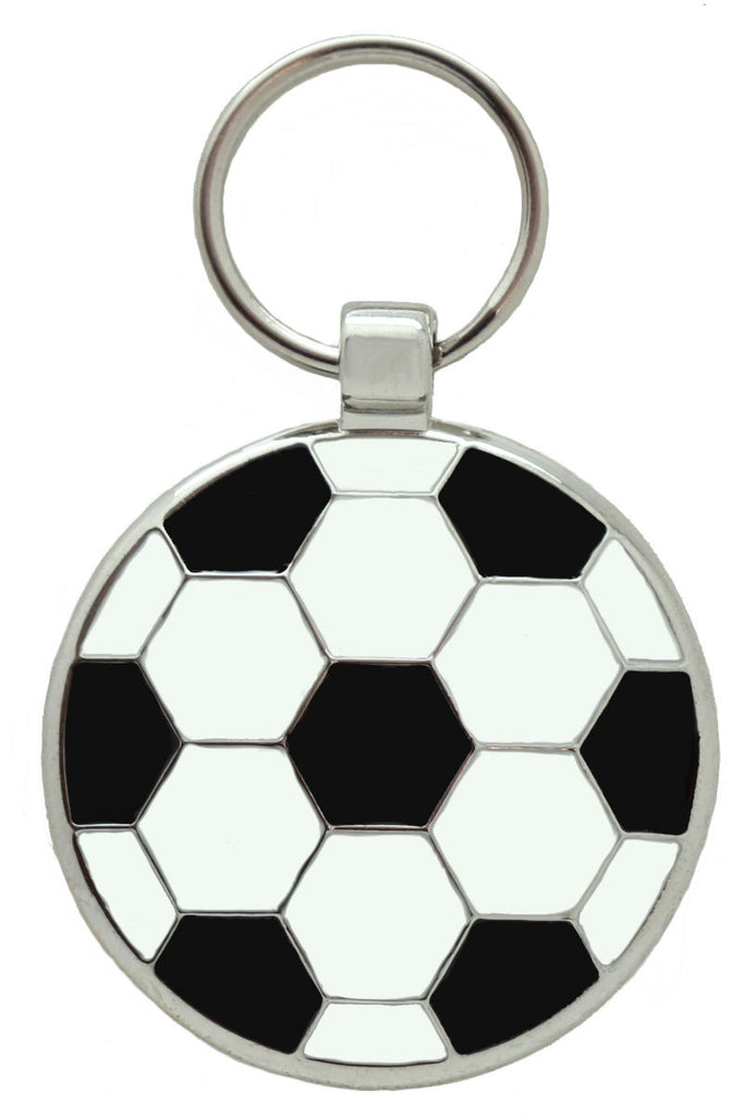 Black Football Pet Tag - Pawprint Pet Tags