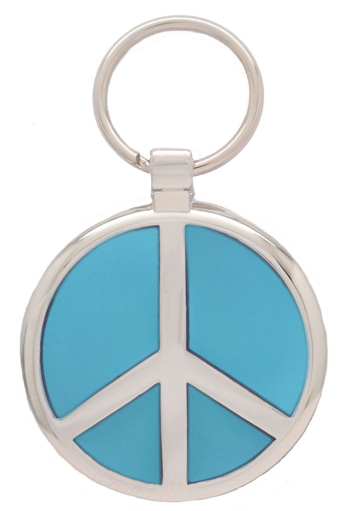 Sky Blue Peace Pet Tag