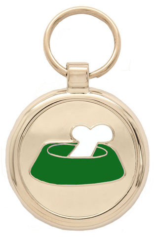 Bright Pink Bone'N'Bowl Pet Tag