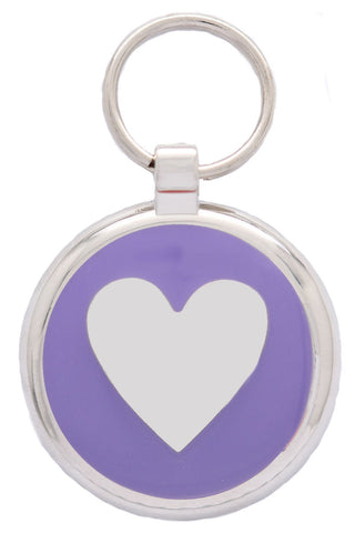 Pink Love Heart Pet Tag
