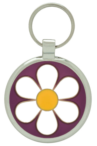 Dark Blue Daisy Pet Tag