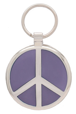 Lime Green Peace Pet Tag