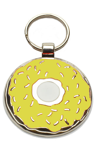Bright Pink Donut Pet Tag