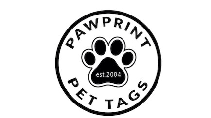 Pawprint Pet Tags