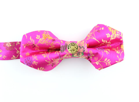 Bow Tie - Bright Pink Pentagon