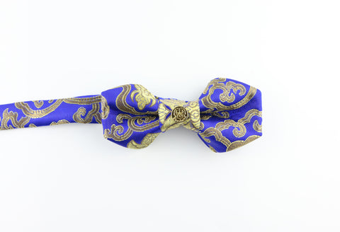 Bow Tie - Blue and Gold Pentagon