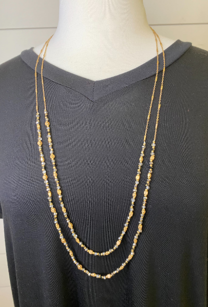 Sunny Beaded Layered Necklace