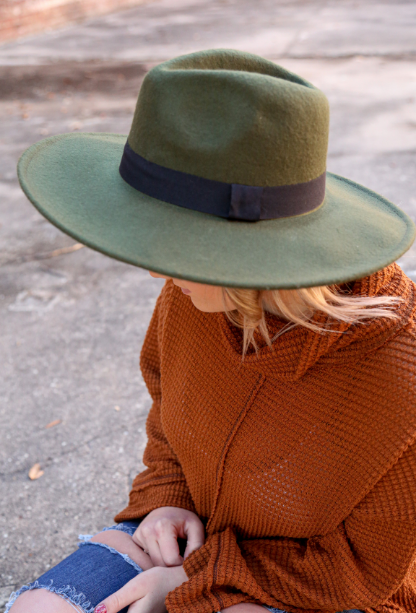 Allie Ribbon Wool Hat