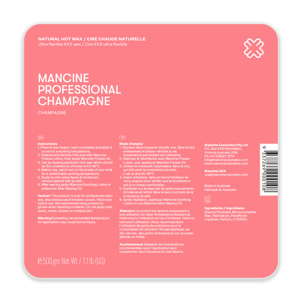 Mancine Hot Wax: Champagne (500gm)