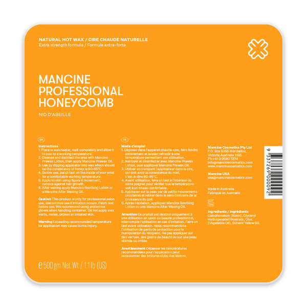 Mancine Hot Wax: Honey Comb (500g)