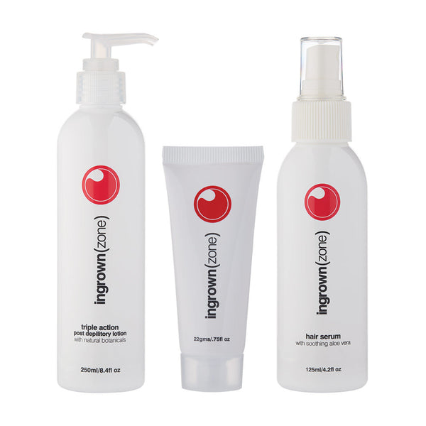 Mancine Ingrown(zone) Full range: Cream, Serum & Triple Action