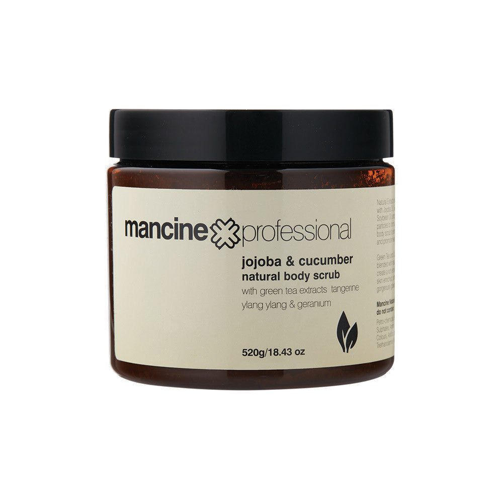 Mancine Natural Body Scrub: Jojoba & Cucumber - Spacadia