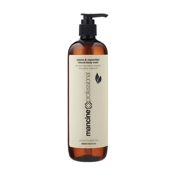 Mancine Natural Body Wash: Jojoba & Cucumber - Spacadia