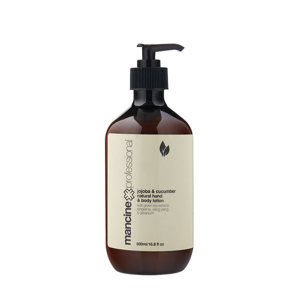Mancine Natural Hand & Body Lotion: Jojoba & Cucumber - Spacadia