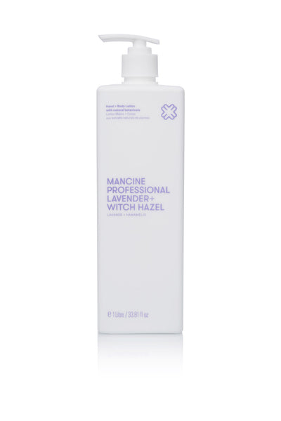 Mancine Hand & Body Lotion: Lavender & Witch-Hazel (1 Litre)
