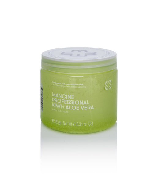 Mancine Hot Salt Body Scrub: Kiwi & Aloe