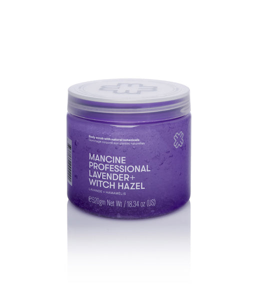 Mancine Hot Salt Body Scrub: Lavender & Witch-Hazel