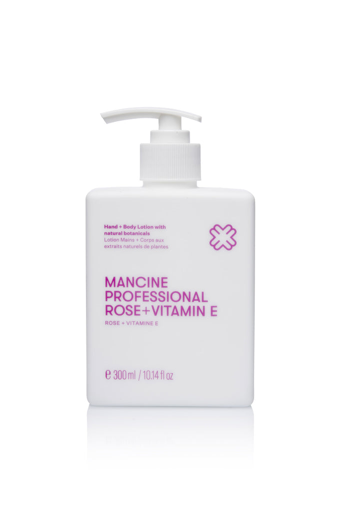 Mancine Hand & Body Lotion: Rose & Vitamin E (300ml)