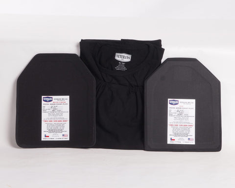 Veterans MFG Level lllA+ TShirt Carrier and Plates Package