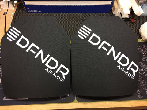 DFNDR Armor Level III+ Special Threat Rifle Plates (Curved)