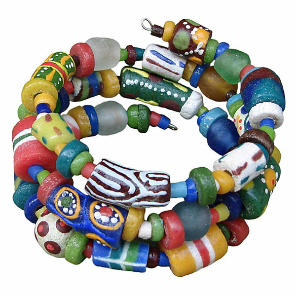 Hodge Podge Spiral Bracelet Rainbow - Global Mamas