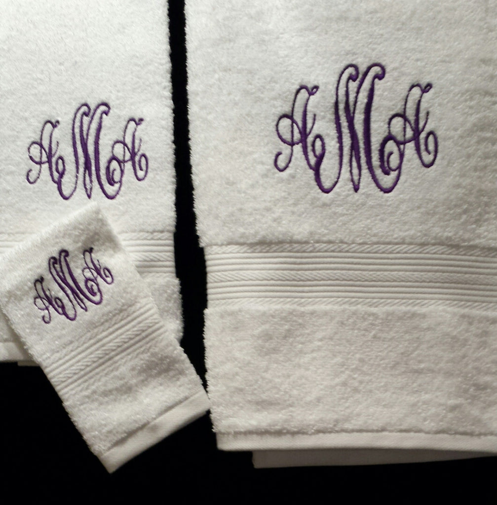 Monogrammed Towel Sets