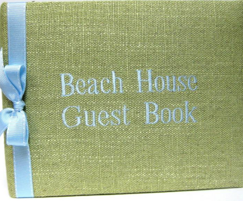 Beach or Lake House Guest Book