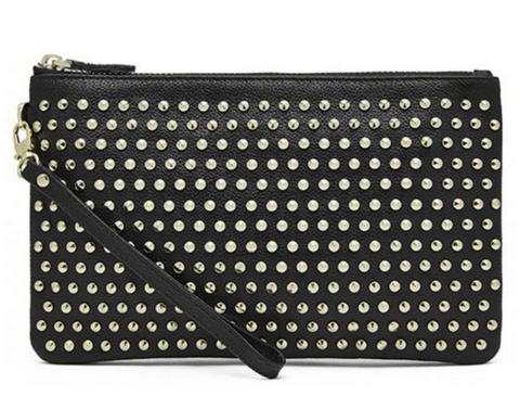 Mighty Purse - Black with Gold Studs