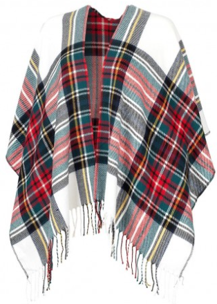 Classic Kennedy Plaid Shawl