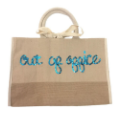 Sequin Canvas Bag - with Single Initial