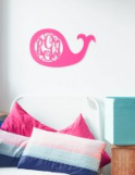 Whale design wooden Monogram