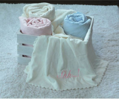"Nana's Single Face Quilted Plush Baby Blanket - 30""x40"""
