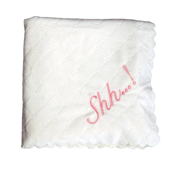 Nana's Quilted Plush Blanket with Faux Sherpa