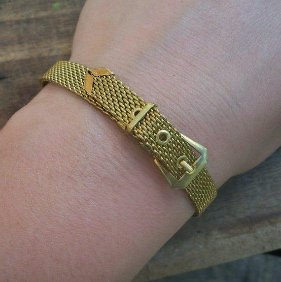 Brass Mesh Bangle