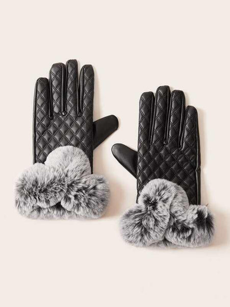 Bella Faux Fur Gloves - House of Angelica