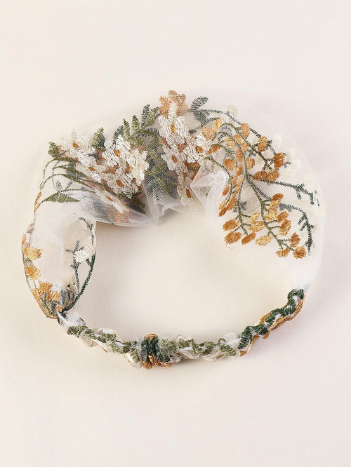 Floral Embroidered Headband - House of Angelica