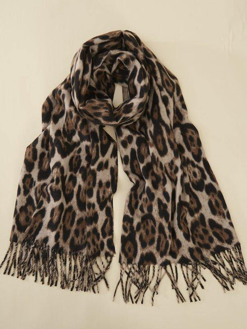 Yalani Leopard Scarf - House of Angelica