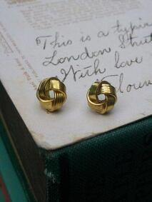 Brass Knot Stud Earrings