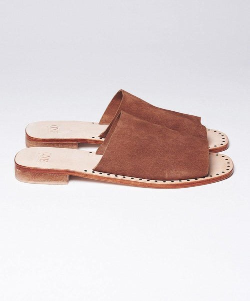 One Teaspoon Suede Slip-on Sandals - Brown
