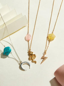 Stone and Charm Necklaces - 3 styles avail.