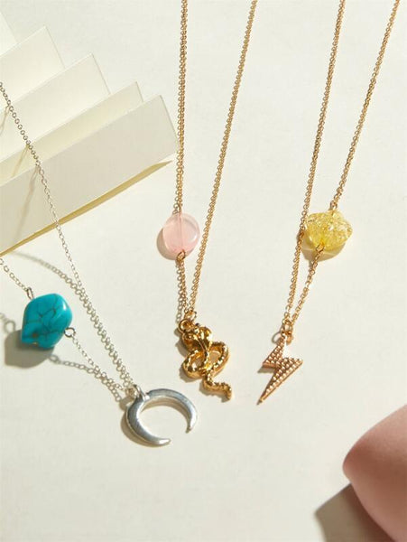 Stone and Charm Necklaces - 3 styles avail. - House of Angelica