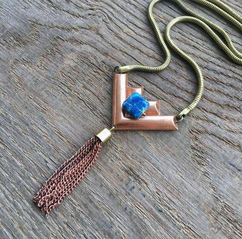 Copper & Brass Tassel Necklace