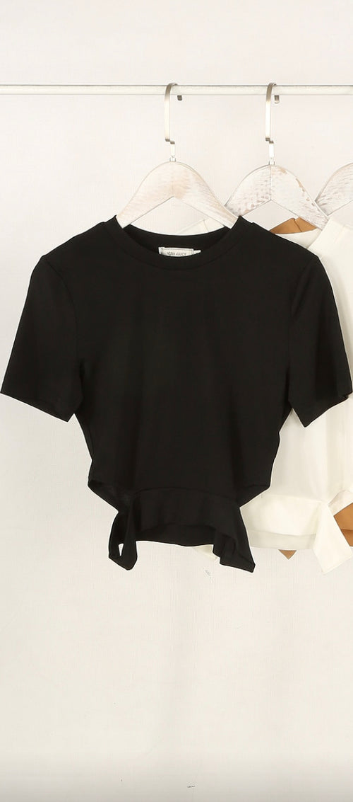 Khadejah Crop Top- Black